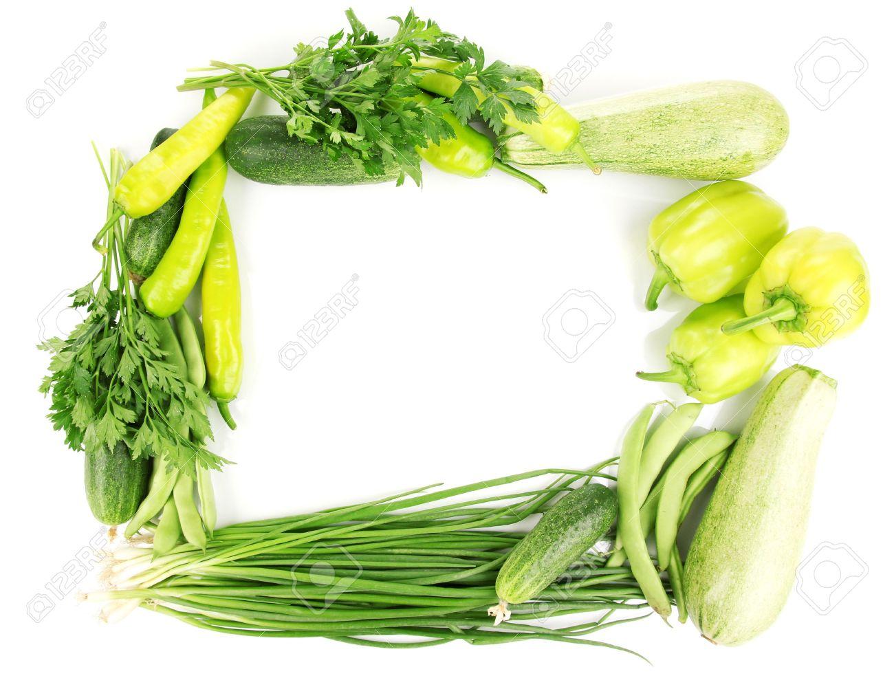 fresh green vegetables isolated on white Stock Photo - 14759531