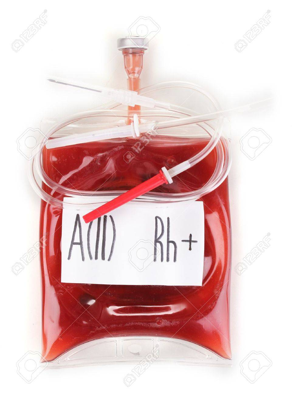 Bag of blood and infusion isolated on white Stock Photo - 14759351