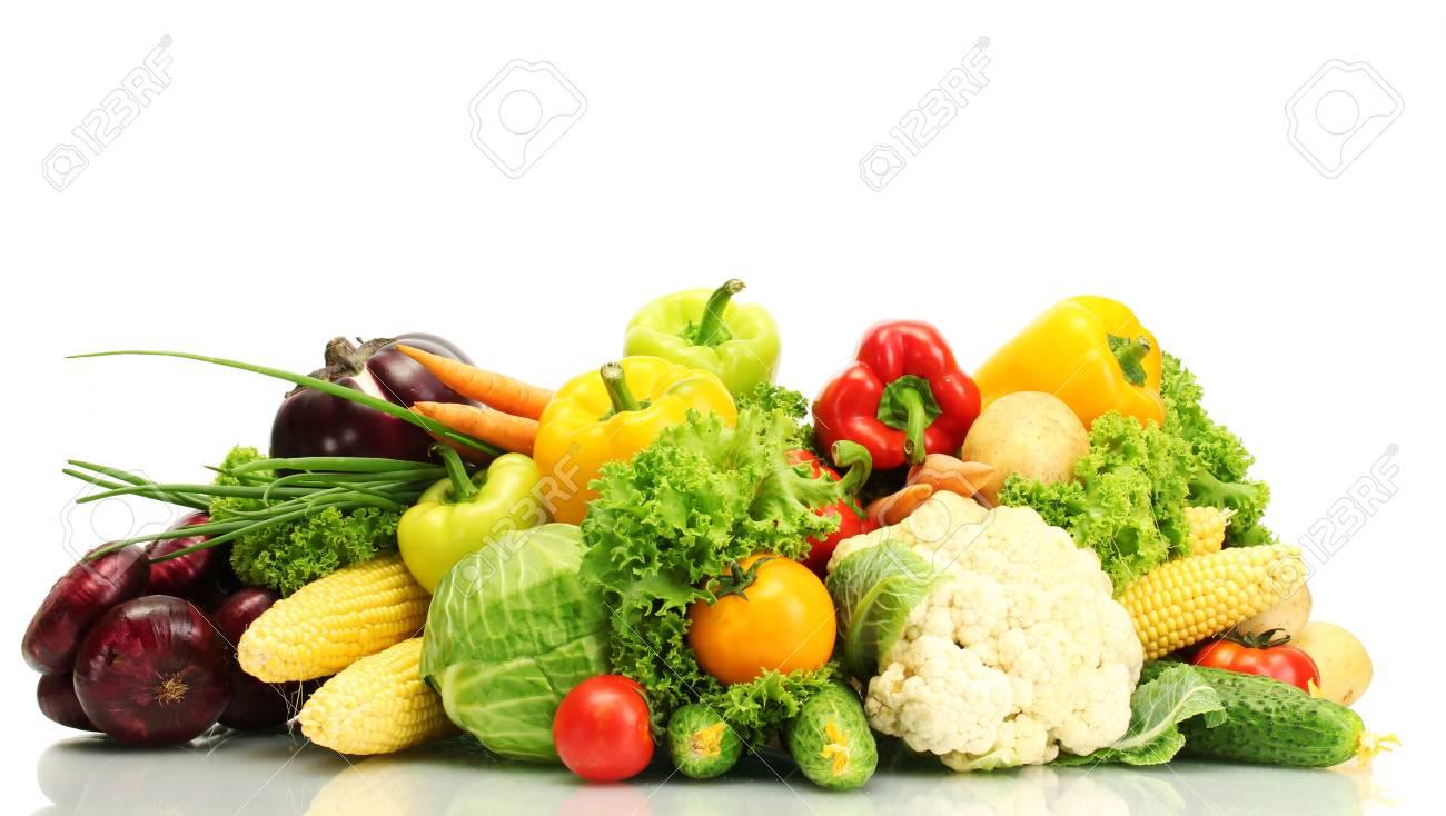 Fresh vegetables isolated on white Stock Photo - 14907308