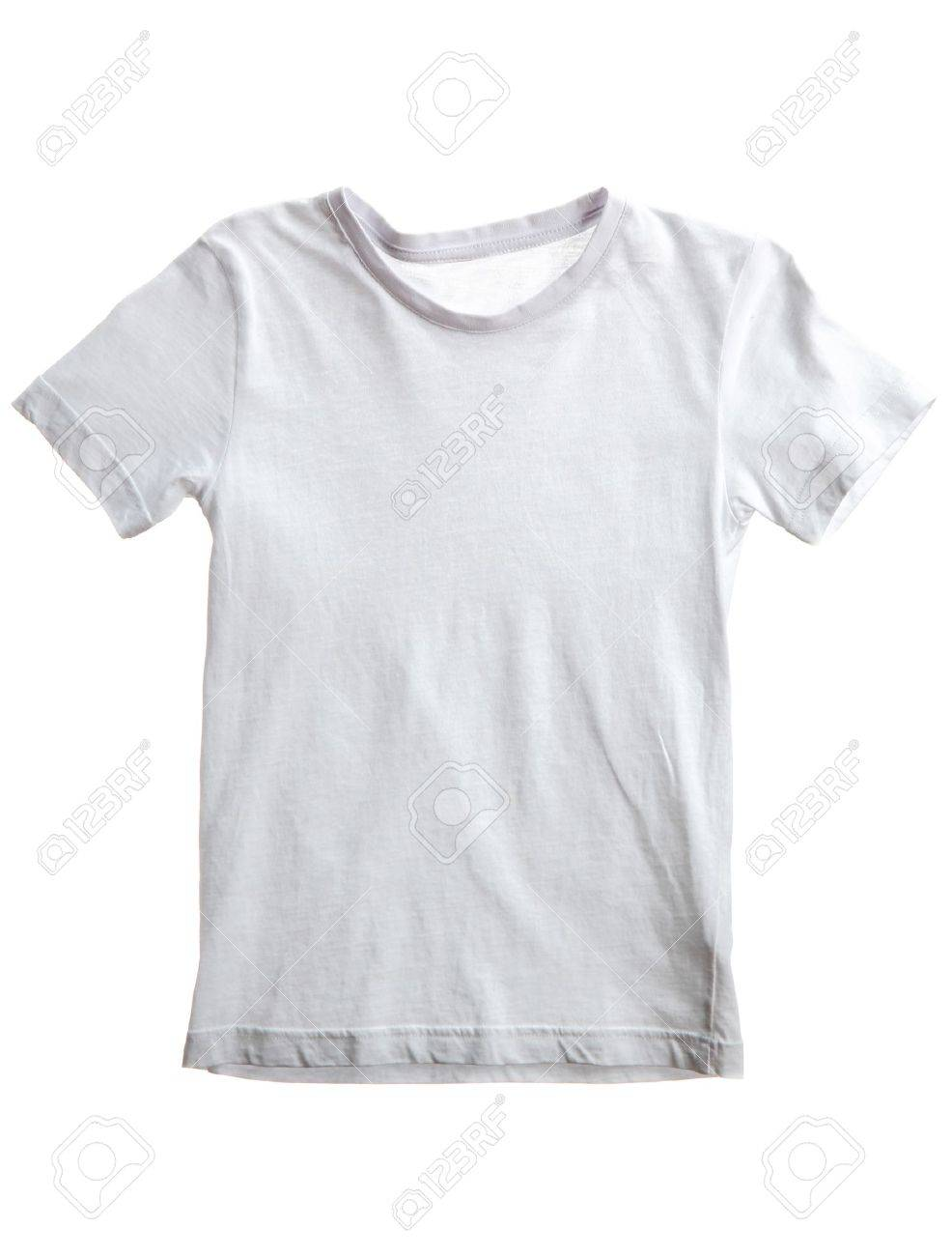 kid white t-shirt isolated on white Stock Photo - 15519498