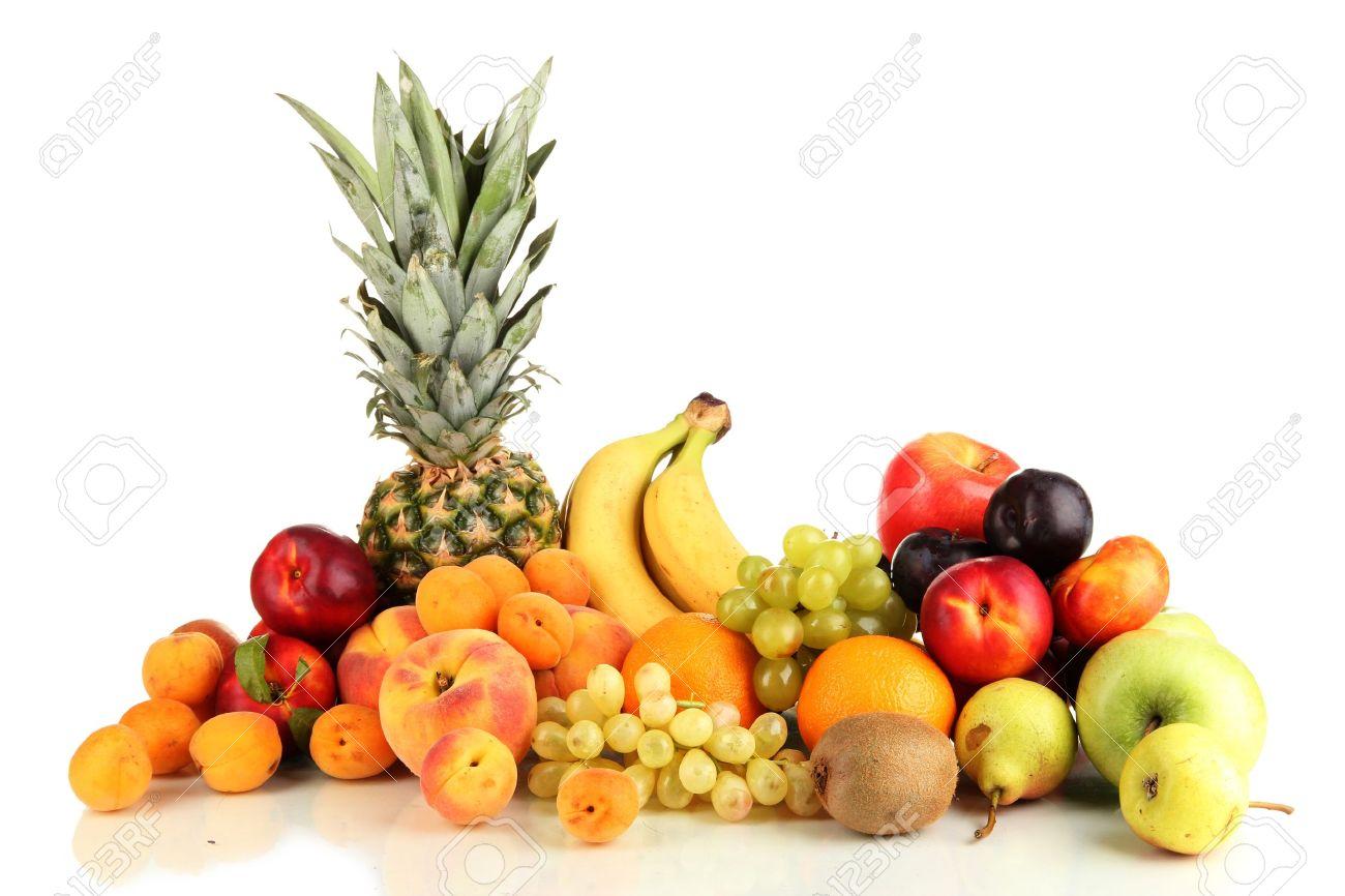 Still life of fruit isolated on white - 15444007