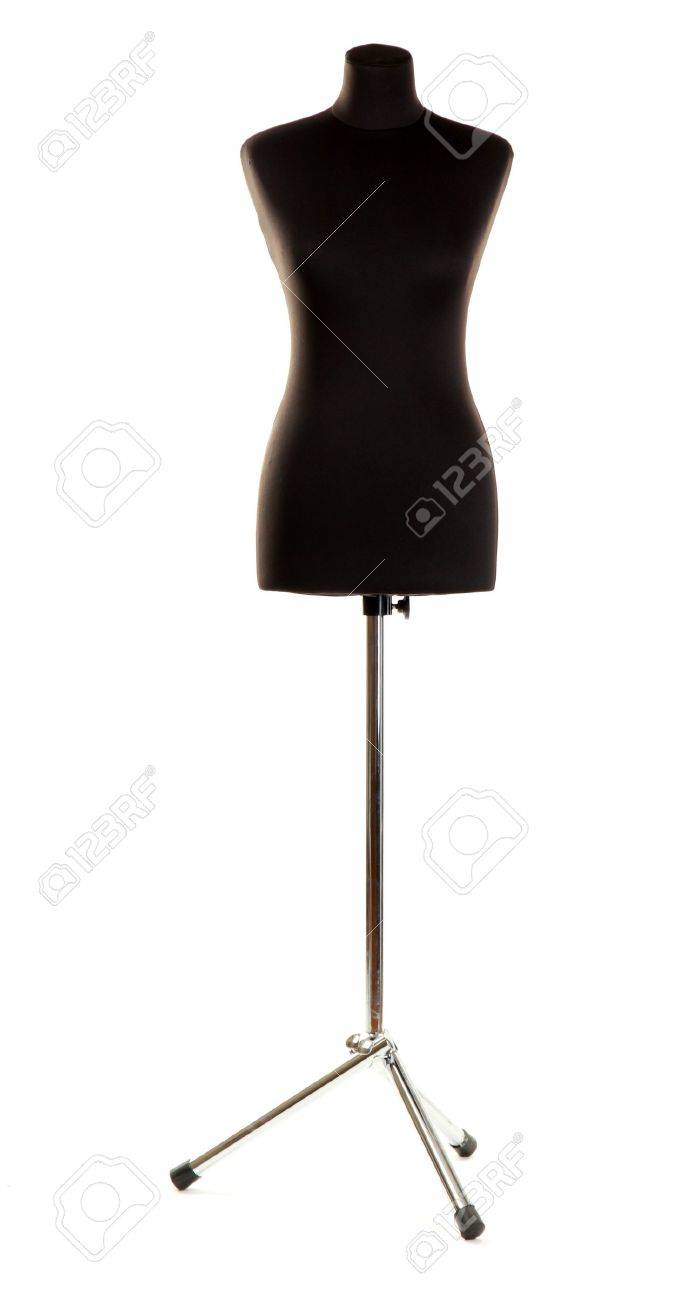 empty black mannequin isolated on white Stock Photo - 15764698