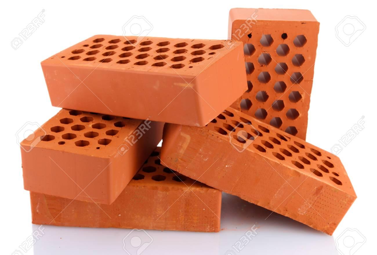 bricks, isolated on white Stock Photo - 16545941
