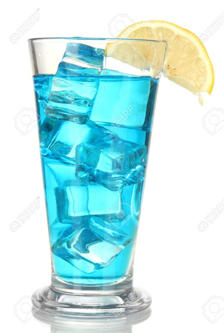 Blue lagoon cocktail  Blue Lagoon Cocktail Isolated On White Stock Photo, Picture And ...