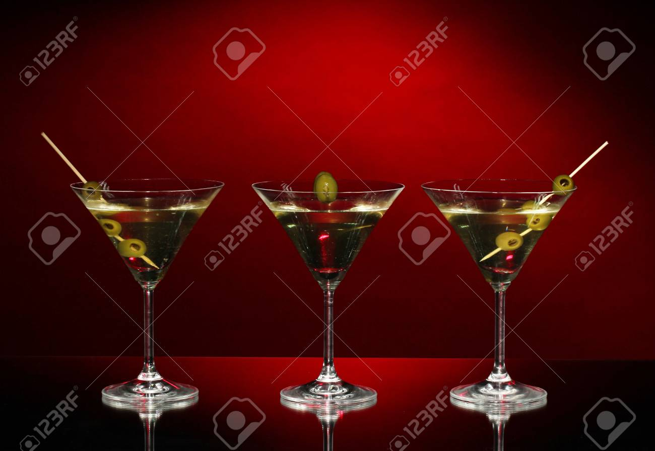 Martini glasses on dark background Stock Photo - 17111845