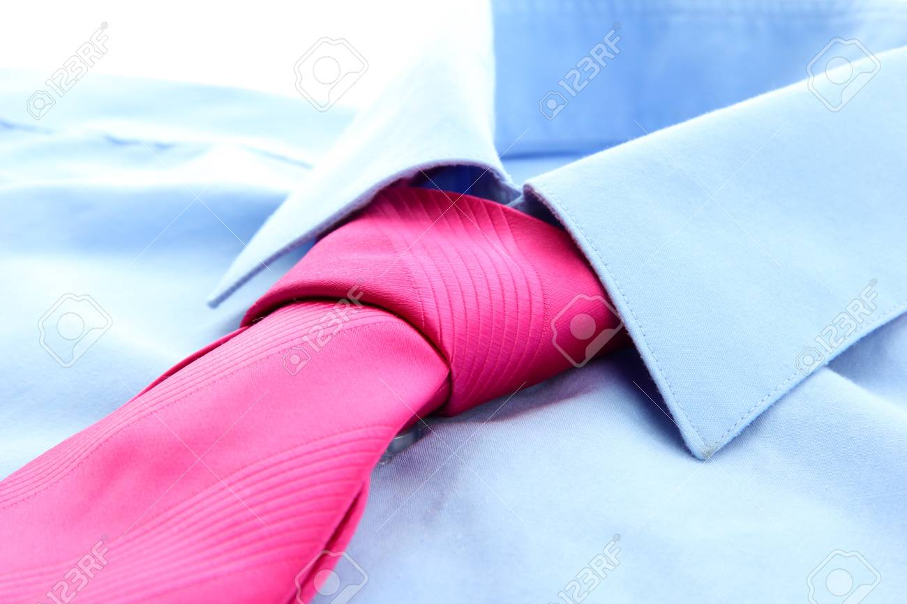 tie on shirt isolated on white Stock Photo - 17292067