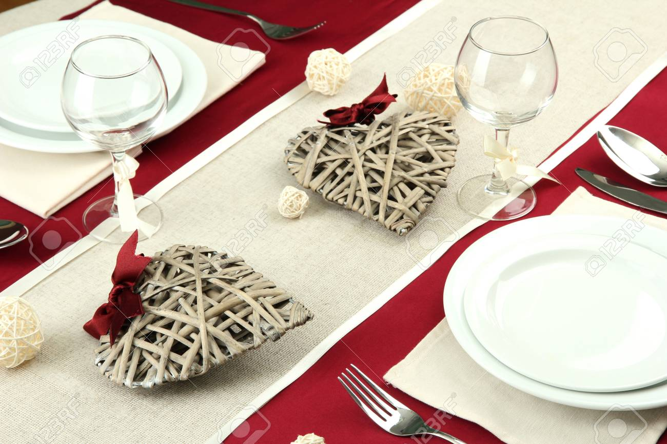romantic table setting, close up Stock Photo - 17292653