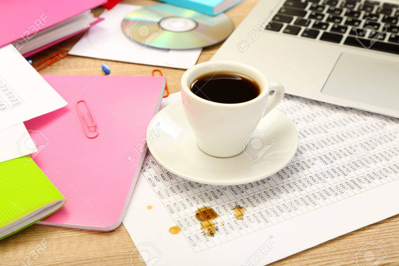 Interesting Office Desktop Coffee Of On Closeup Stock Photo 18041396 O With Inspiration