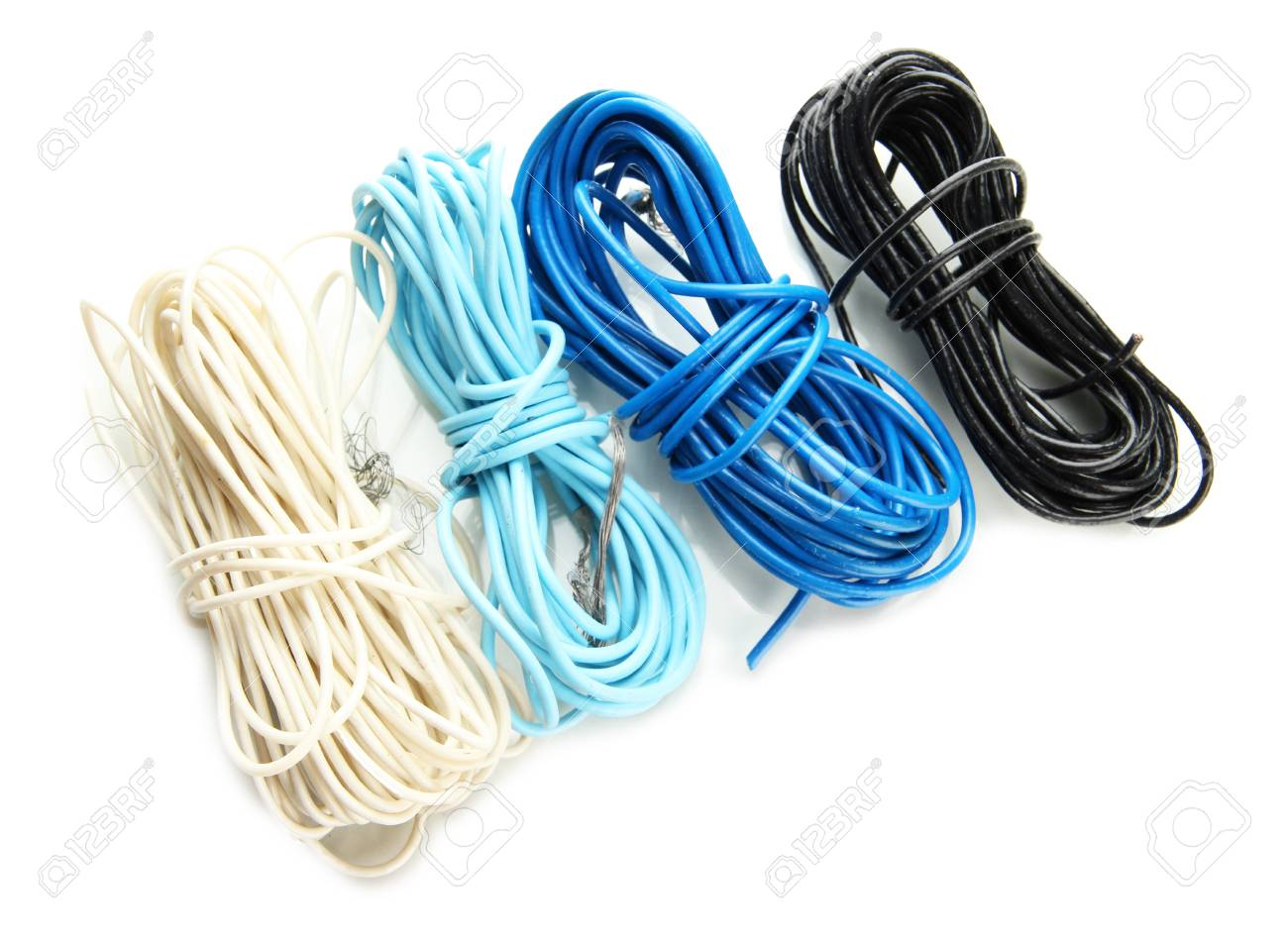 Cables, isolated on white Stock Photo - 18072266