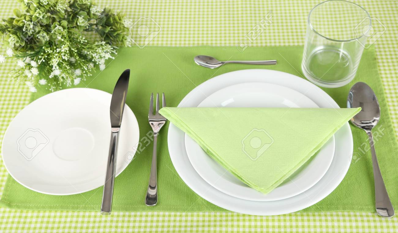 Stock Photo - Table setting for breakfast & Table Setting For Breakfast Stock Photo Picture And Royalty Free ...