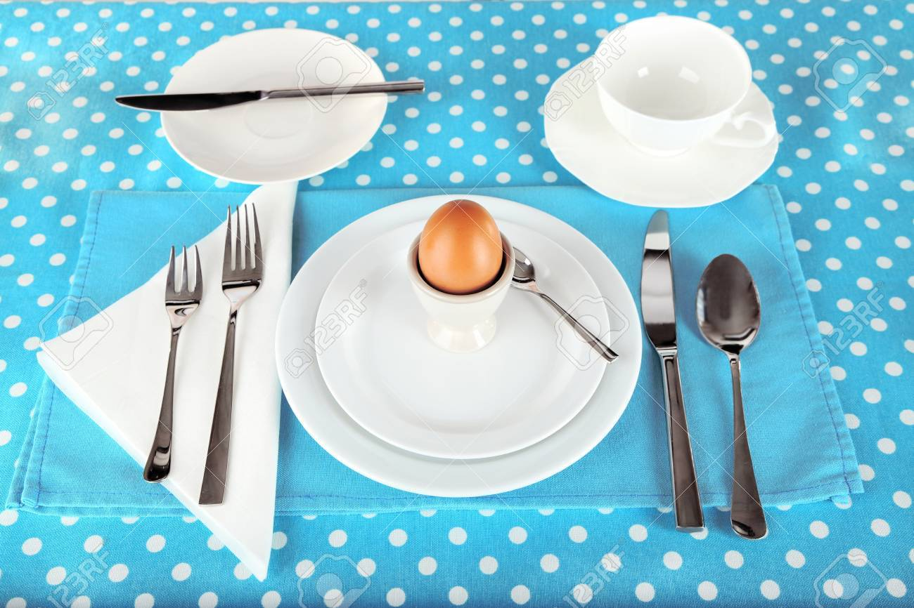 Table Setting For Breakfast Table Setting For Breakfast Stock Photo Picture And Royalty Free