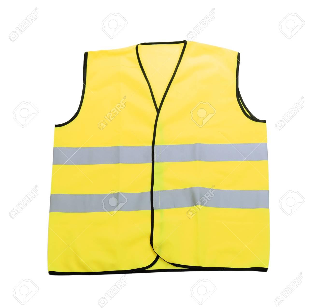 Yellow vest, isolated on black Stock Photo - 18609862