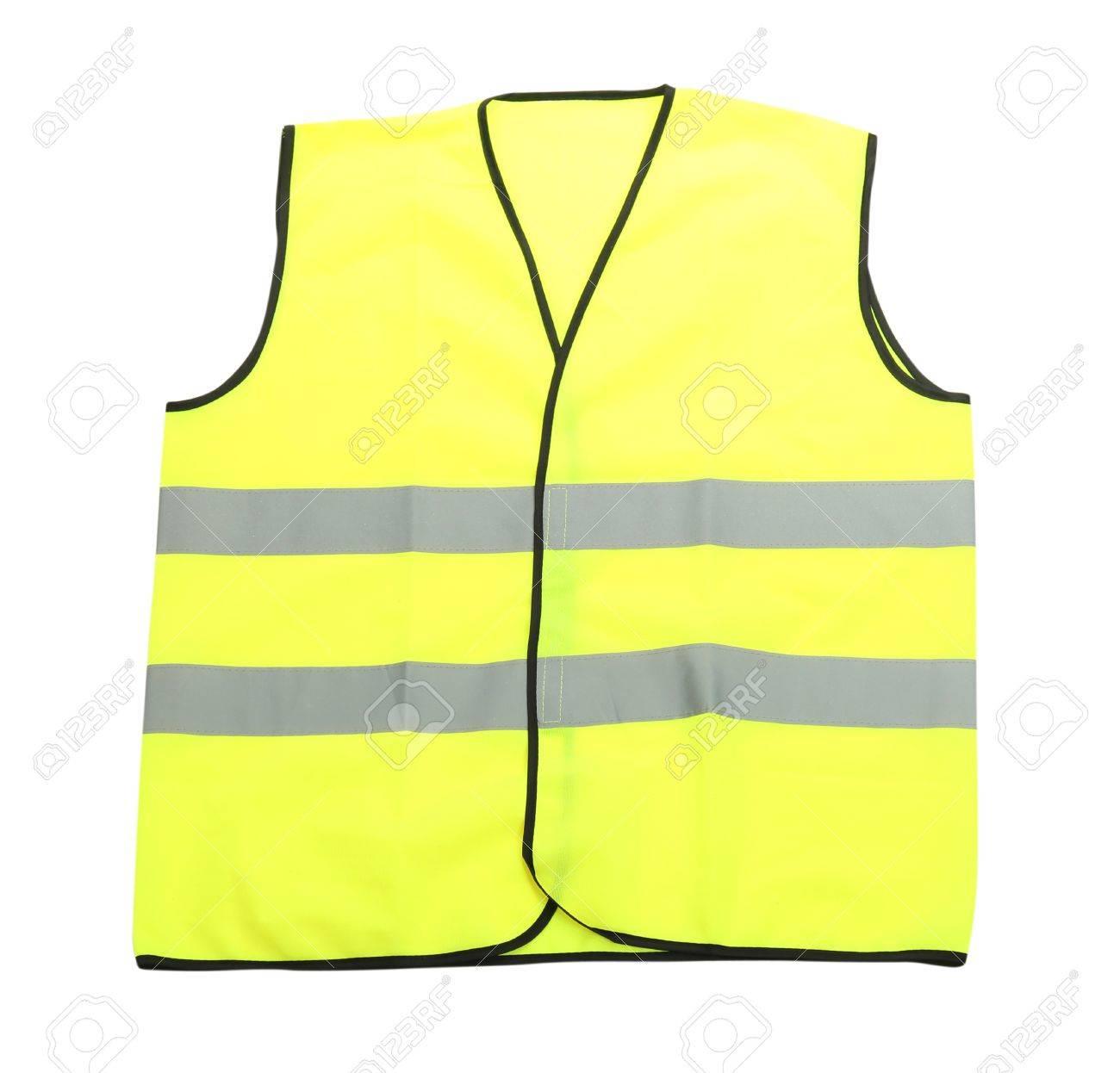 Yellow vest, isolated on black Stock Photo - 19098911