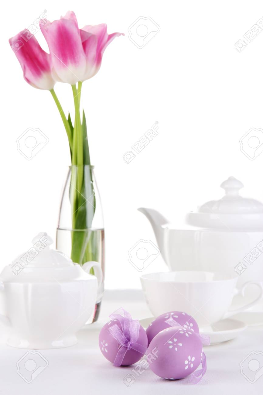 Place setting for Easter close up Stock Photo - 19338058