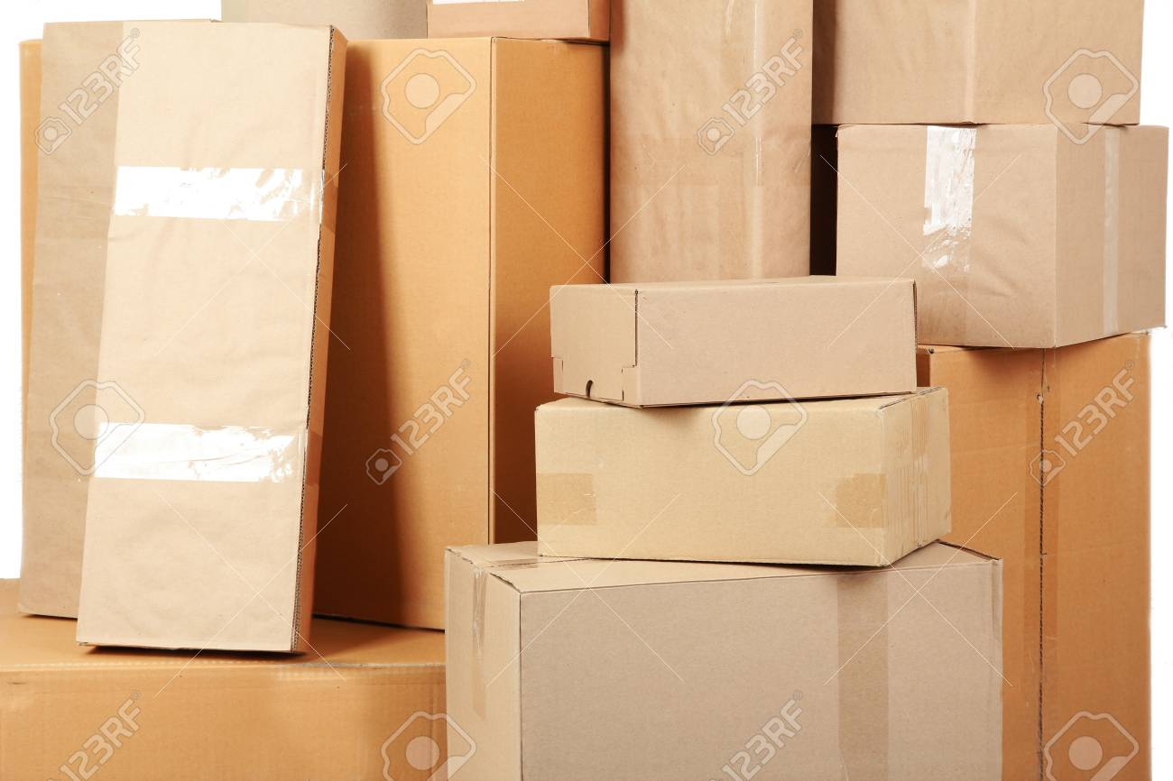 Different cardboard boxes in room Stock Photo - 19764831