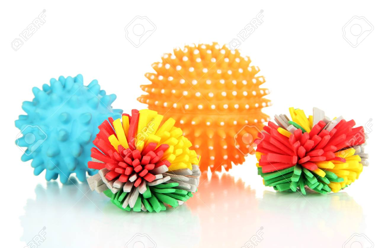 Rubber Toys For Pets Isolated On White Stock Photo, Picture And ...