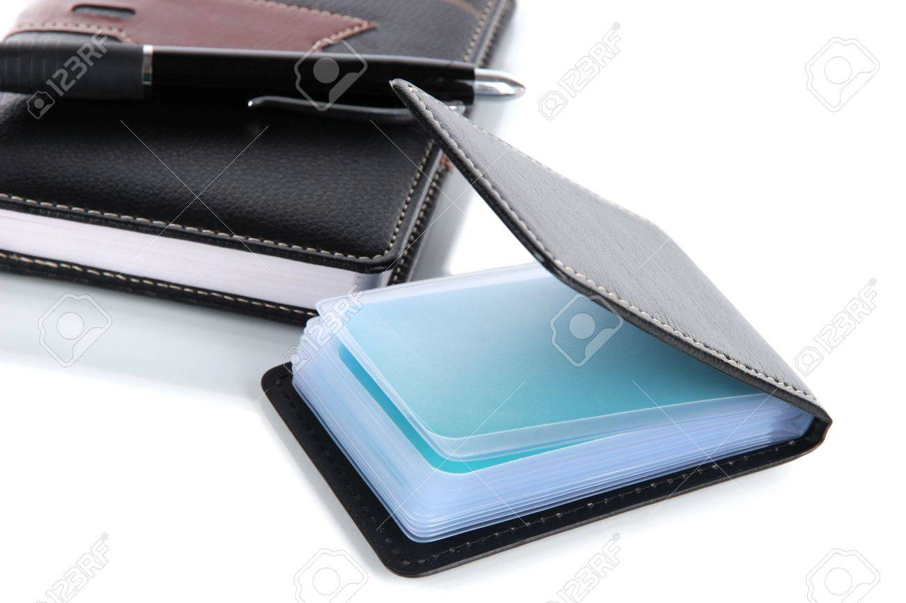 Black business card case images free business cards black business card case images free business cards black business card holder notebook and pen isolated magicingreecefo Image collections