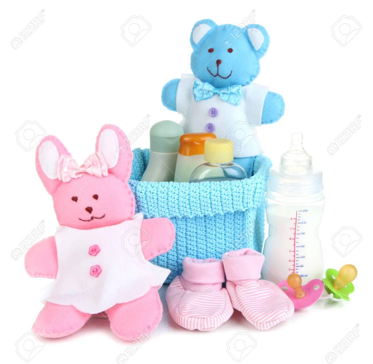 a2ea84711e5 Baby Accessoires Geïsoleerd Op Wit Royalty-Vrije Foto, Plaatjes ...