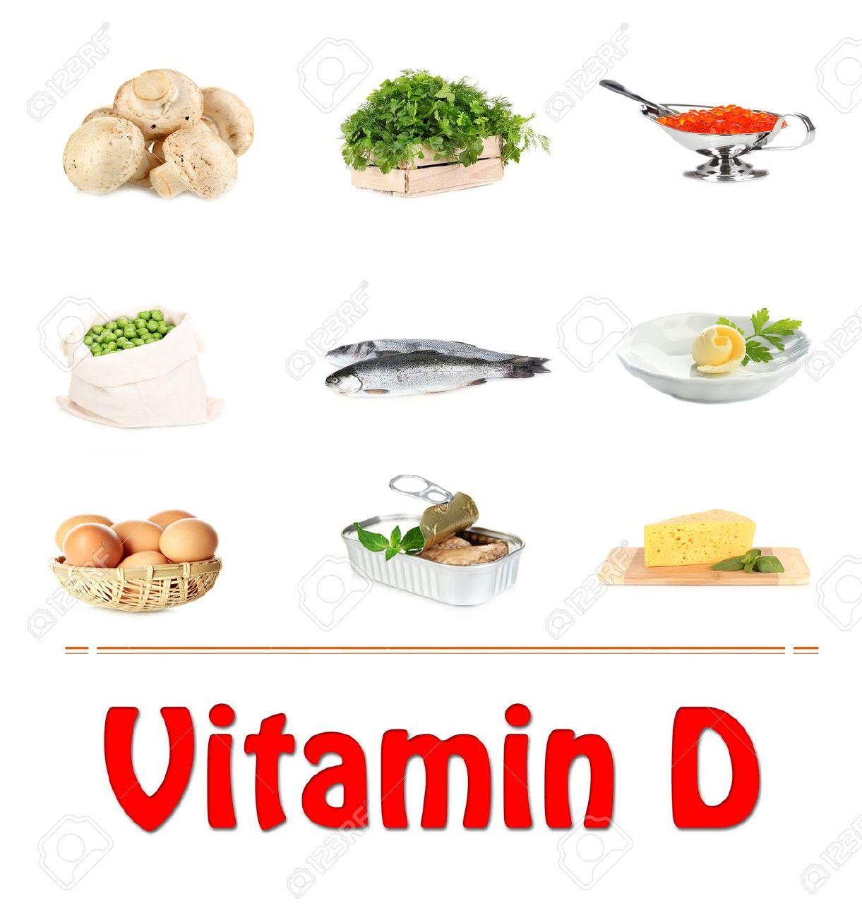 Voedsel Bronnen Van Vitamine D Geisoleerd Op Wit Royalty Vrije Foto Plaatjes Beelden En Stock Fotografie Image 21761724