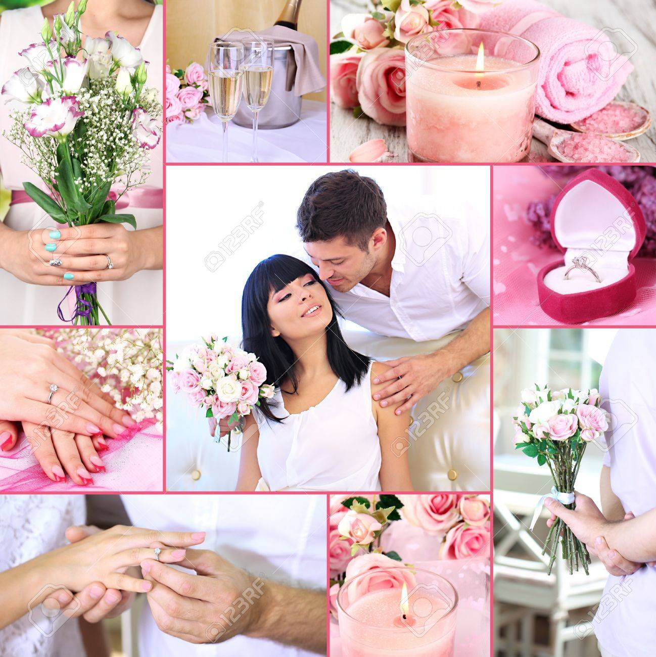 Collage Of Wedding Stock Photo, Picture And Royalty Free Image ...