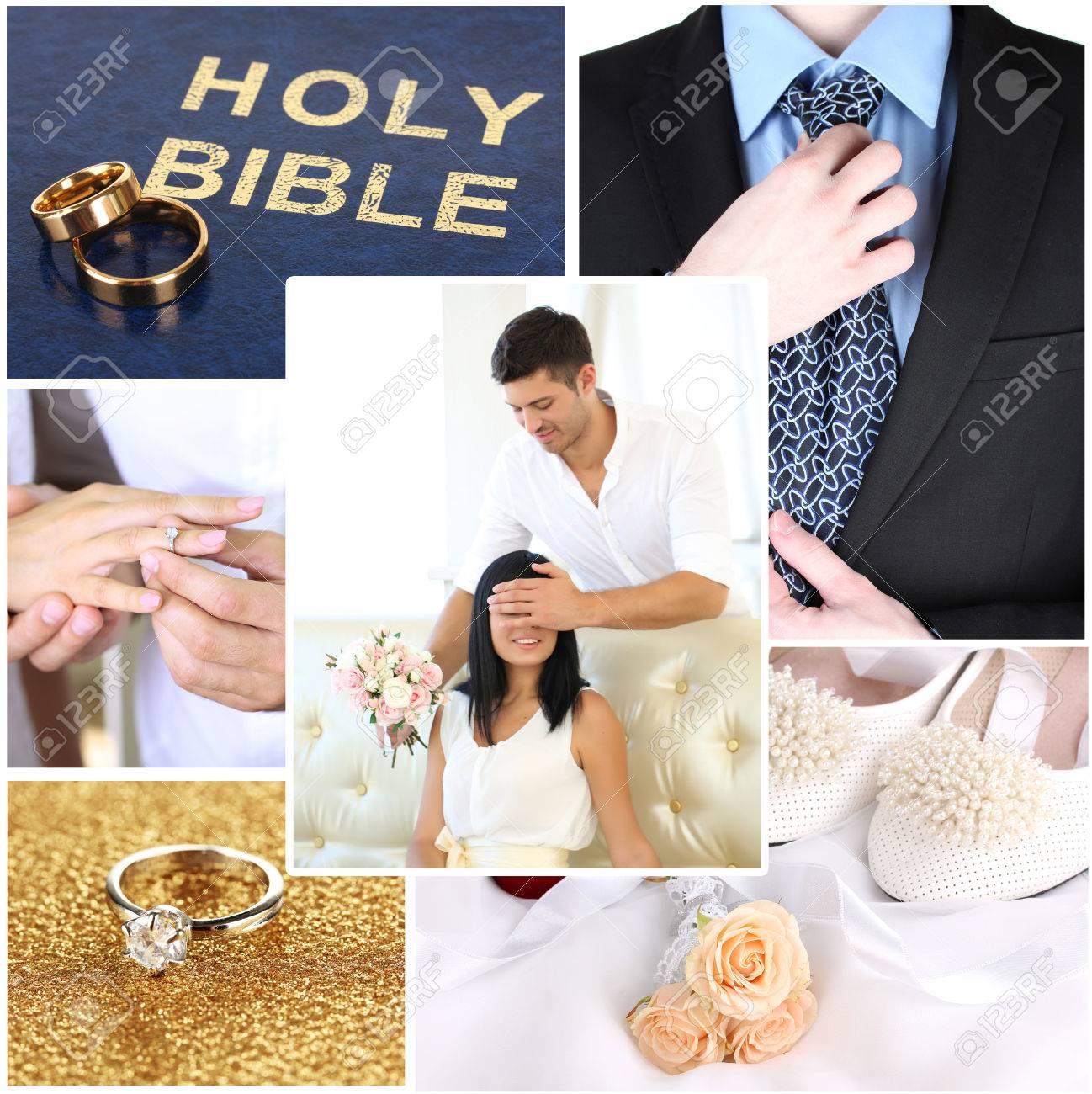 Hochzeit Collage Lizenzfreie Fotos Bilder Und Stock Fotografie