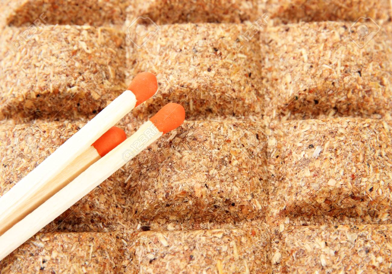 Long matches and dry fuel, close up Stock Photo - 22528809