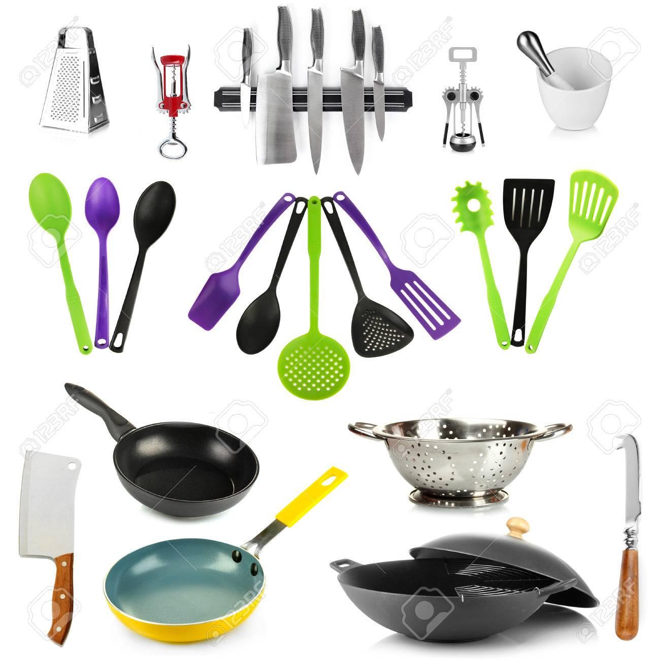 Herramientas De Cocina | Coleccion De Herramientas De Cocina Aislado En Blanco Fotos