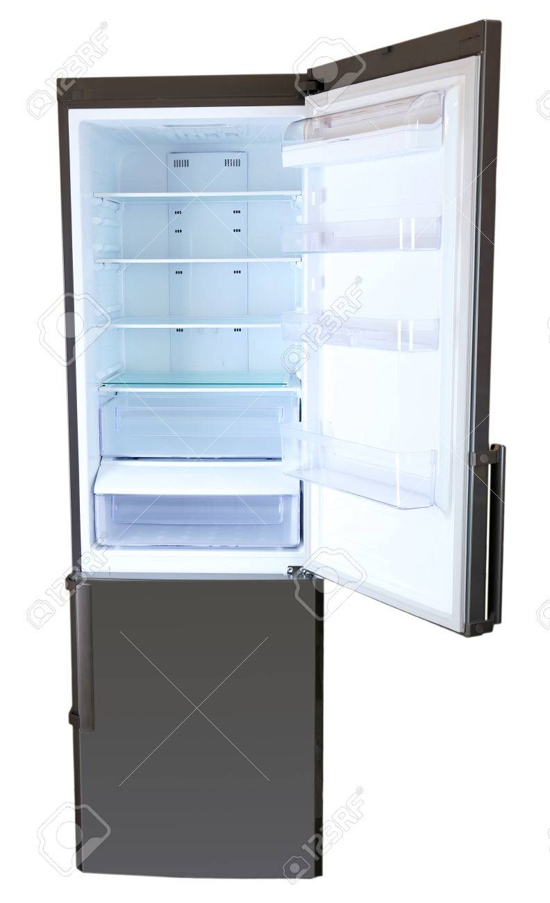Two door gray refrigerator Stock Photo - 23737978