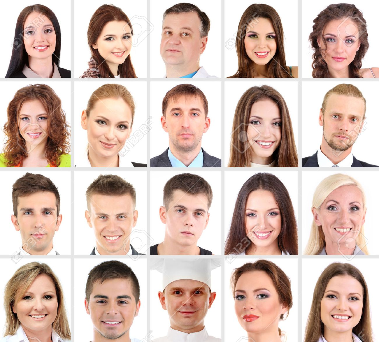 collage of many different human faces stock photo picture and