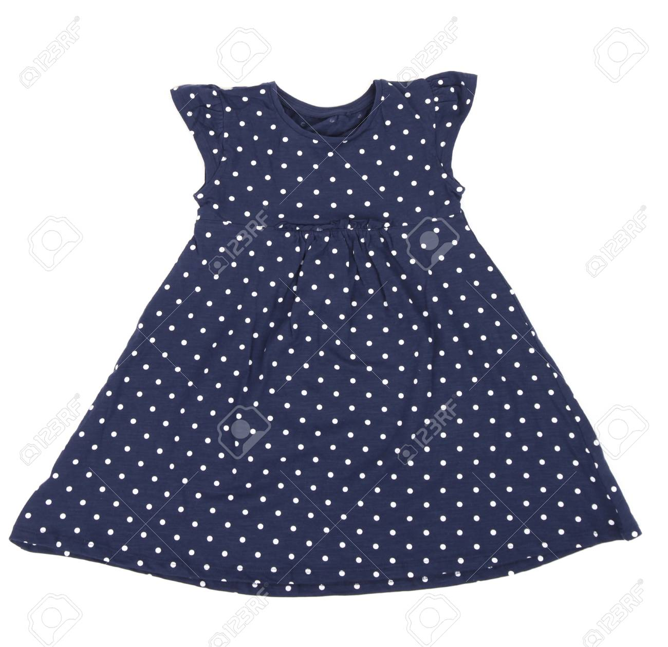 d335d4c73d63c Belle Robe Pour Petite Fille Isolée Sur Fond Blanc Banque D Images ...