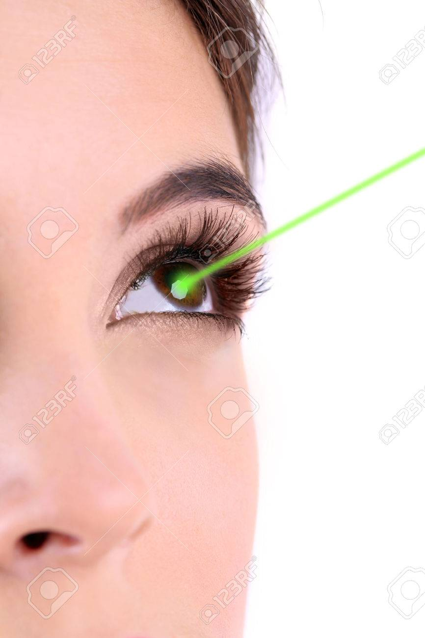 Laser vision correction. Woman's eye. - 27055746