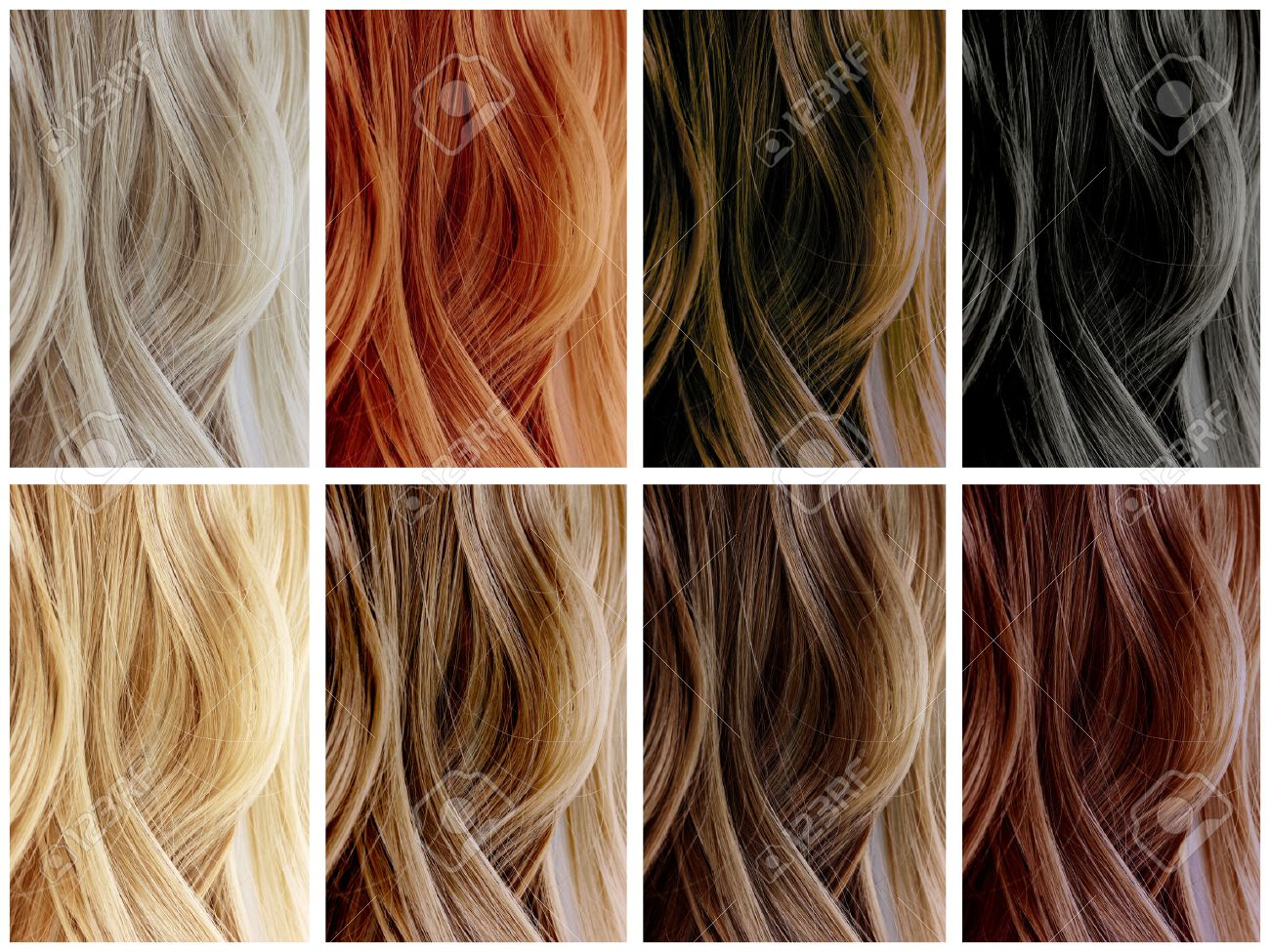Hair Color Samples Stock Photo, Picture And Royalty Free Image ...