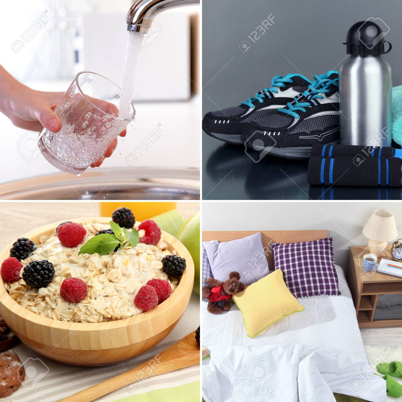 Collage of healthy lifestyle Stock Photo - 25873500