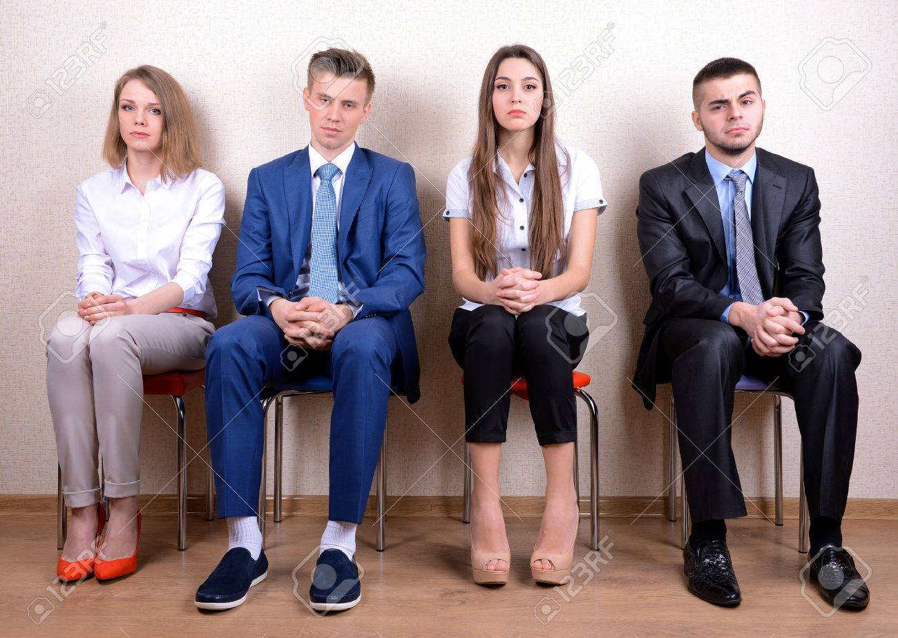 business people waiting for job interview stock photo picture and business people waiting for job interview stock photo 26413637