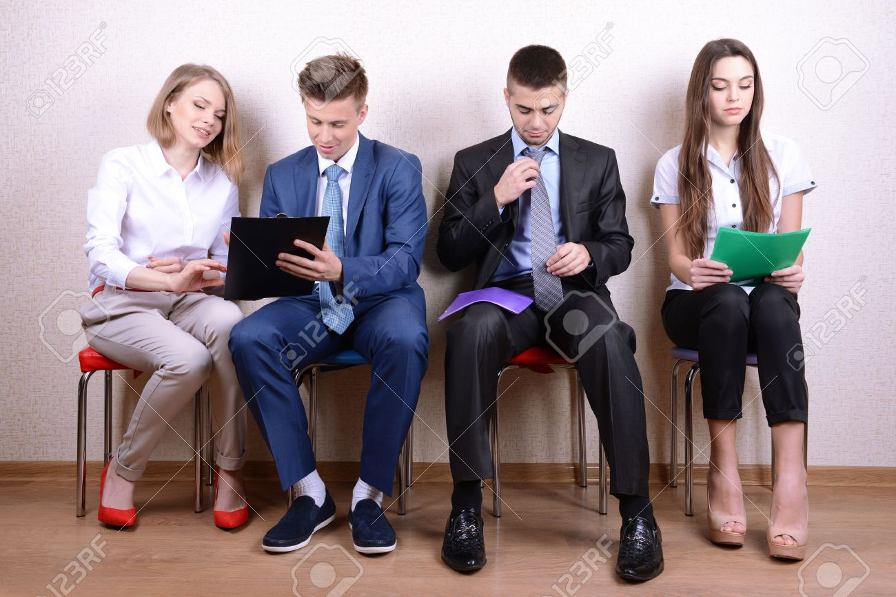 business people waiting for job interview stock photo picture and business people waiting for job interview stock photo 27056112