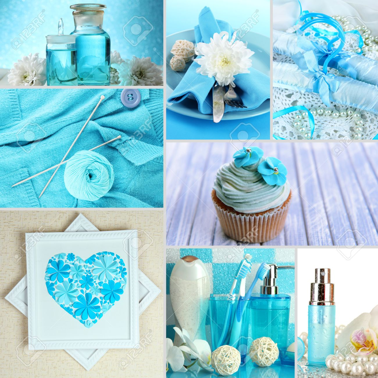 Collage of photos in blue colors Stock Photo - 26625973