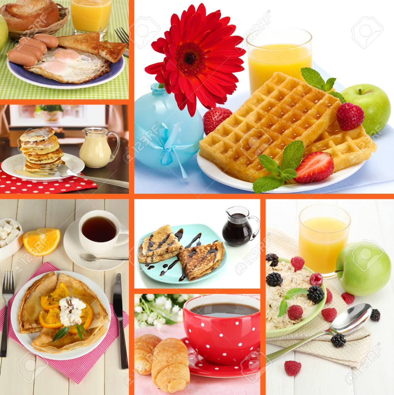 Breakfast collage Stock Photo - 26969924
