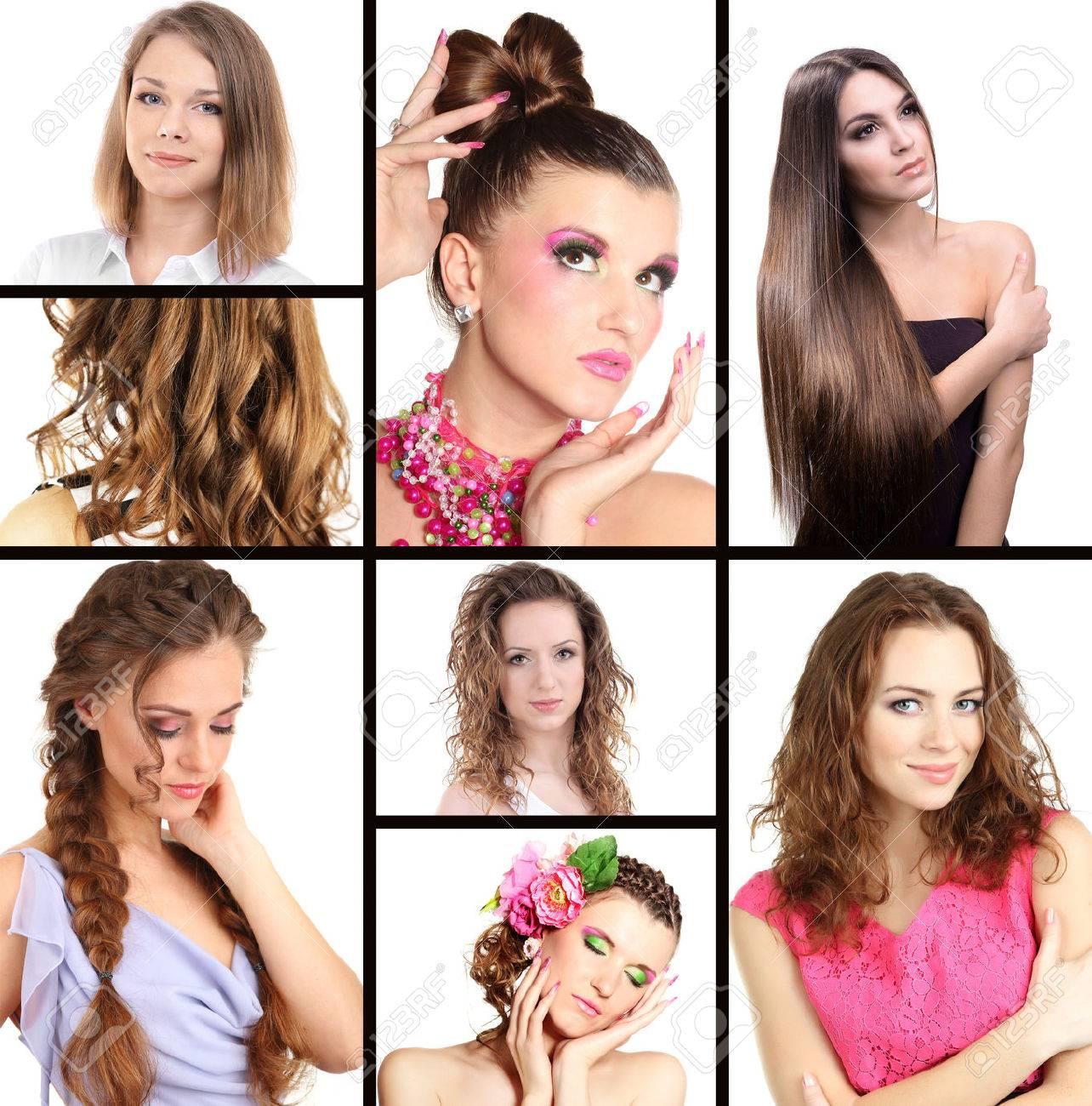 Коллаж из причёсок