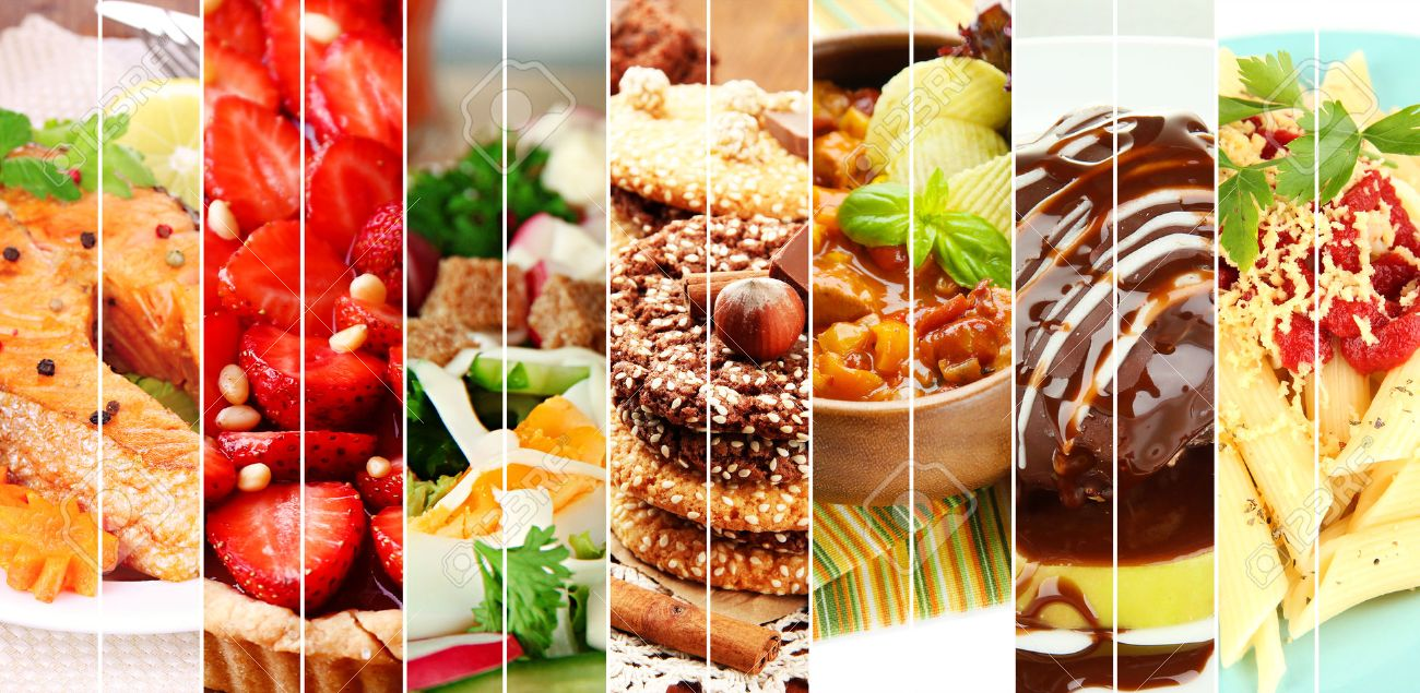Collage of delicious food close-up - 30287438