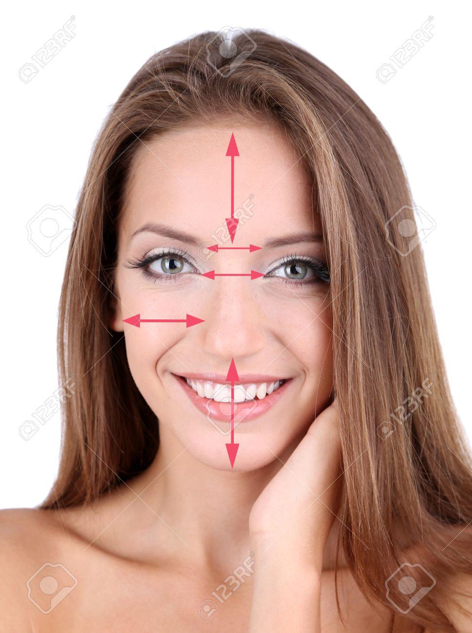 Weibliche Schönheit Konzept Perfektes Gesicht Proportionen