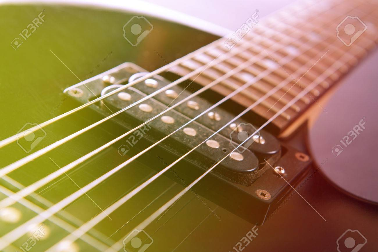 Electric Guitar Close Up Stock Photo Picture And Royalty Free