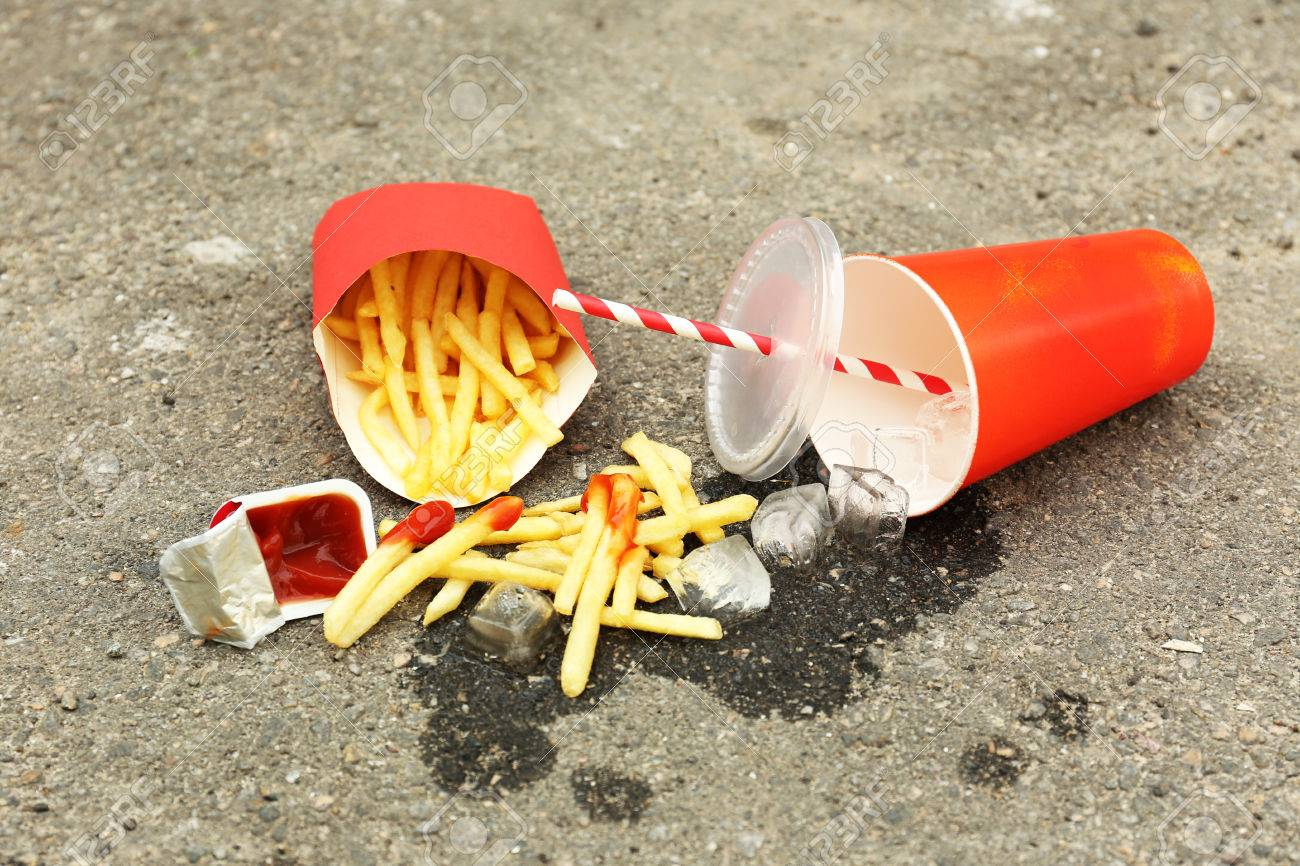 Image result for littering fast food