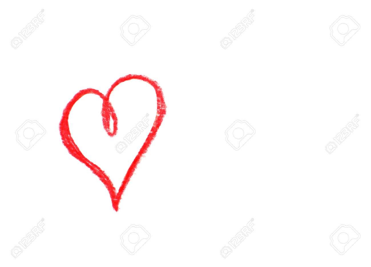 Coeur Dessin dessin coeur isolé sur blanc banque d'images et photos libres de