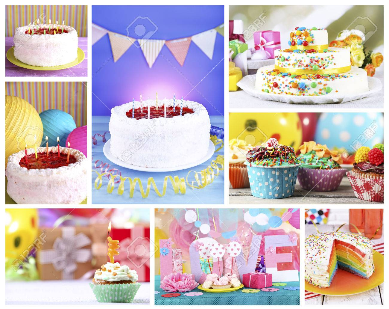 Happy Birthday Collage Stock Photo, Picture And Royalty Free Image ...
