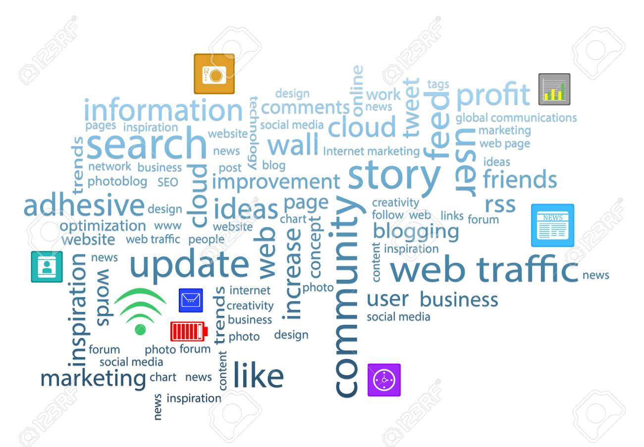 Word Cloud. Internet Concept Stock Photo, Picture And Royalty Free ...