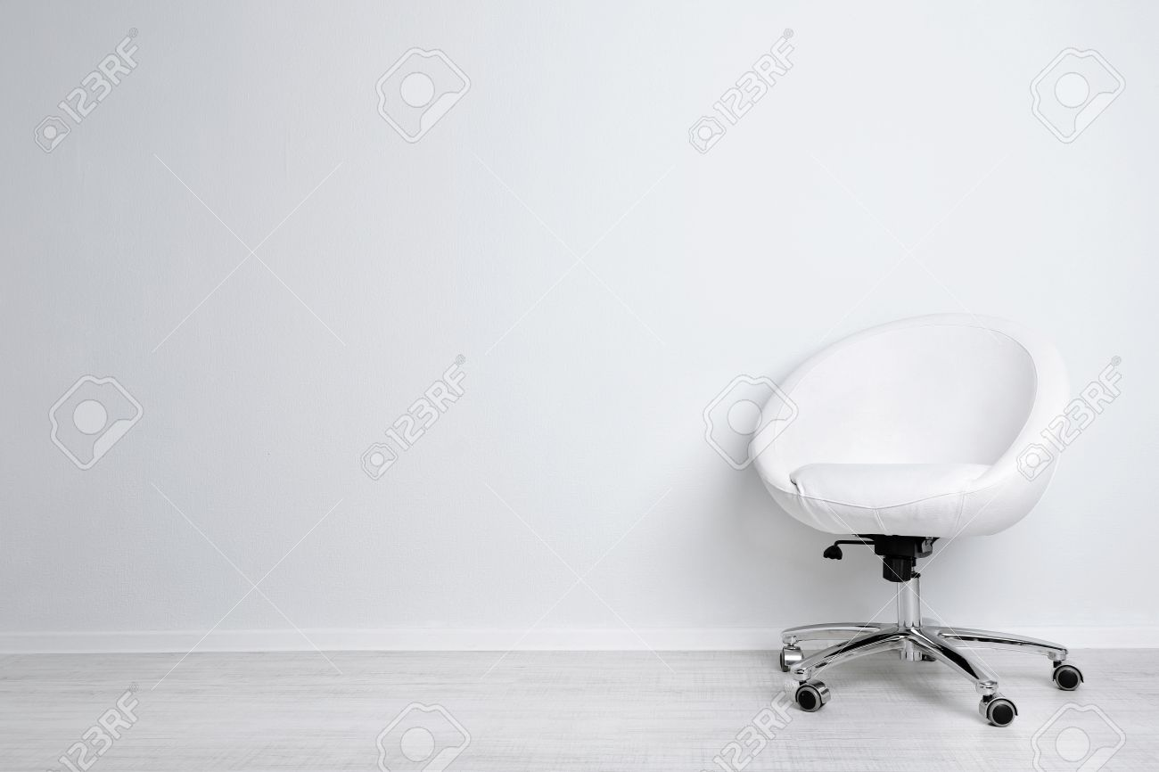 Black and white chair photography - Chairs Modern Chair On White Wall Background Stock Photo