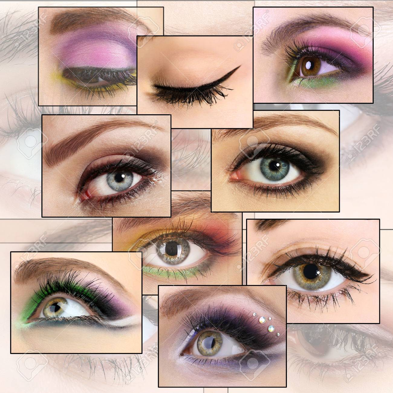 Collage with beautiful female eyes - 47169534