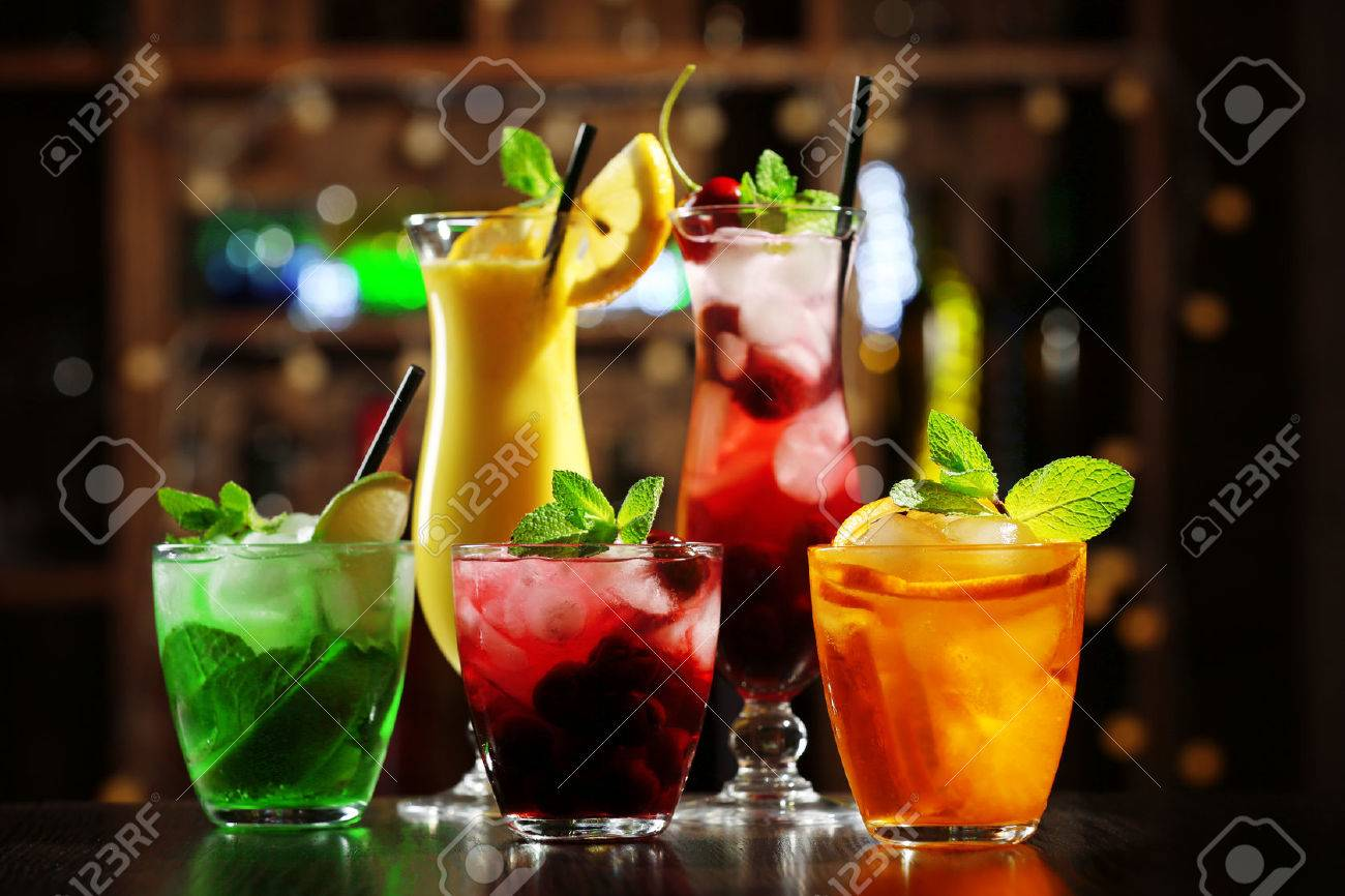 Image Stock Cocktails 47403431 Glasses Photo Of Bar On Picture Image Royalty And Free Background