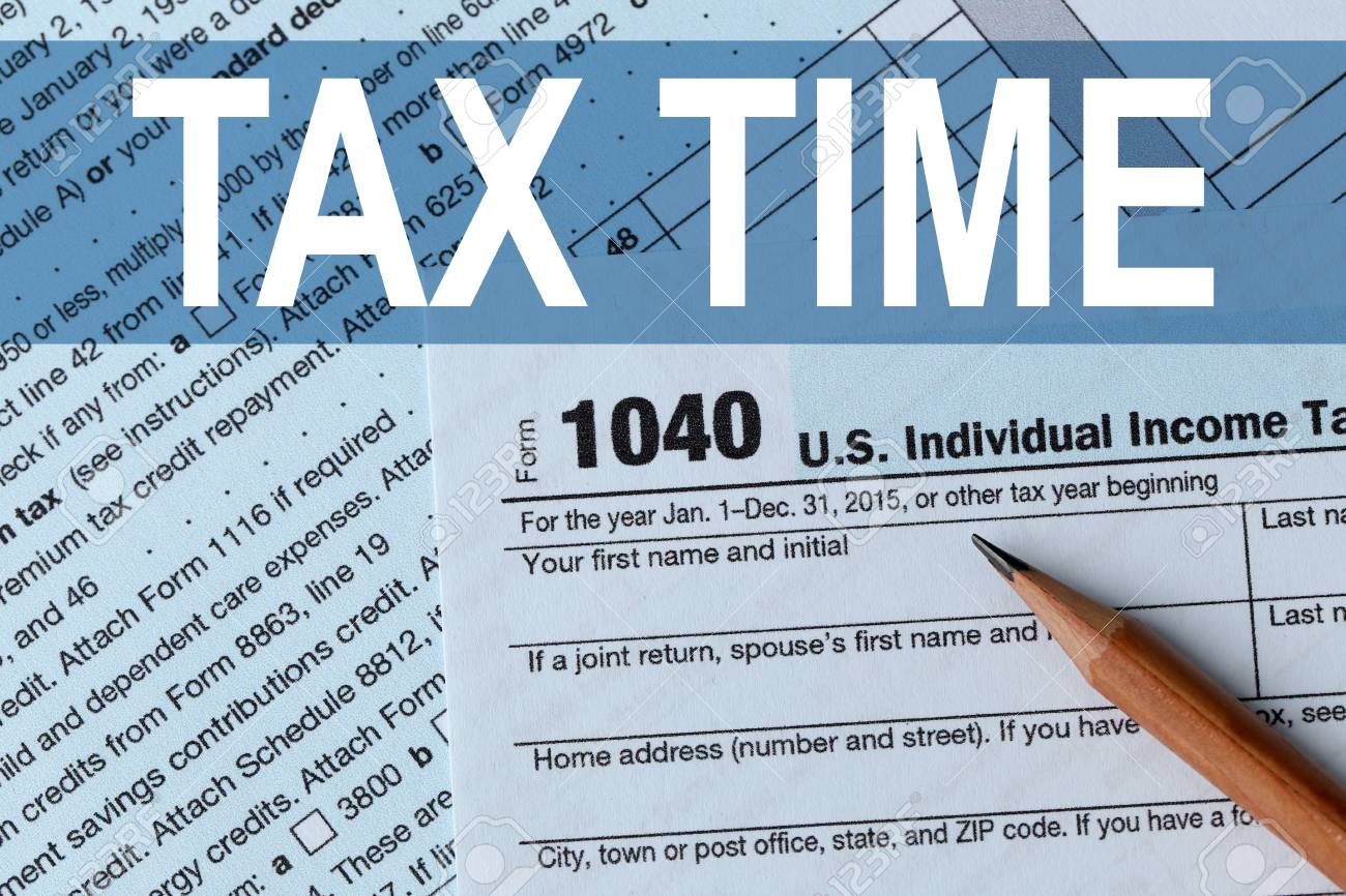 Tax Concept 1040 Individual Income Tax Return Form For 2015 Stock