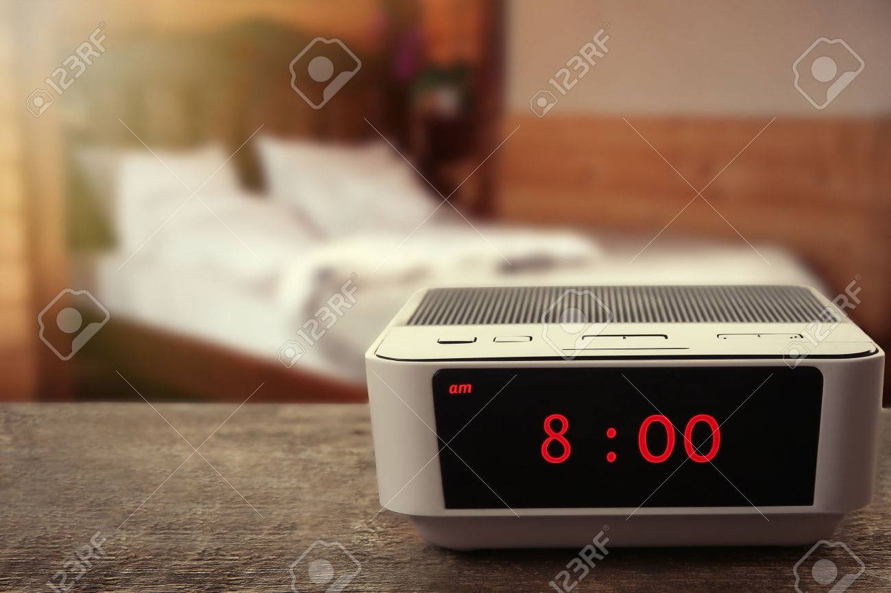 Digital Clock Showing 800 Oclock On Wooden Table Bedroom – Bedroom Clock